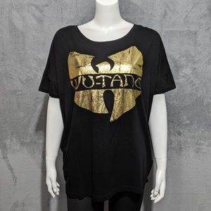 4/25🎃 H&M Divided black gold Wu-Tang batwing tee